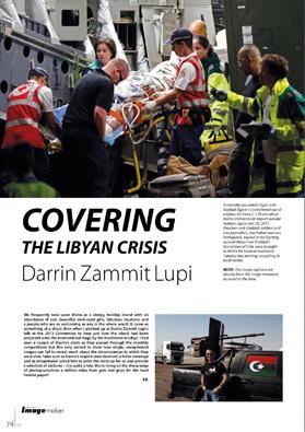 Times of Malta photojournalist Darrin Zammit Lupi's article in Professional Imagemaker.
