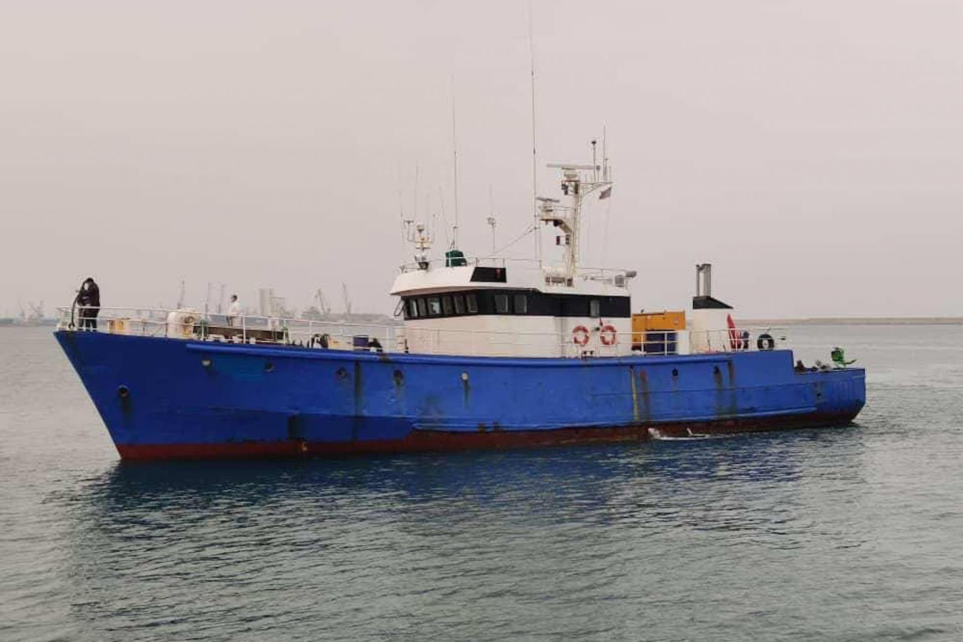 The Dar al Salam, formerly called the Mae Yemenja, and owned by Maltese sea captain Carmelo Grech, brought the migrants to Libya. Photo: Manuel Delia