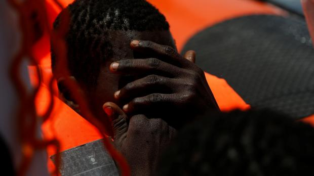 'Please hurry, please hurry. We are dying': a man aboard the boat pleaded in vain. This is a file photo. Photo: Reuters/Darrin Zammit Lupi