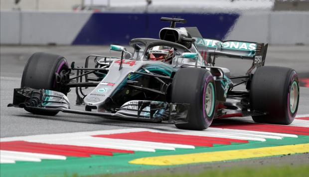 Lewis Hamilton topped the charts in Austria on Friday.