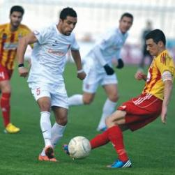 Valletta midfielder Joao Gabriel is challenged by Gareth Sciberras, of Birkirkara. Photo: Matthew Mirabelli