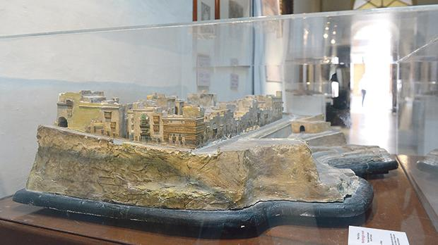 A bozzetto of the Mandaraggio (known today as Il-Mandraġġ) in the lower part of Valletta. The model is currently on show at the St Dominic Priory as part of an exhibition tracing the Dominicans' history in the capital.