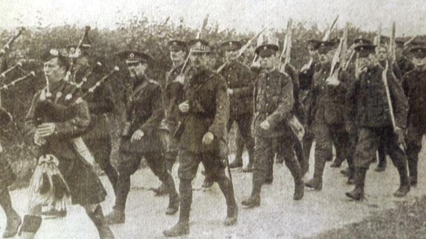 A battalion of British troops.