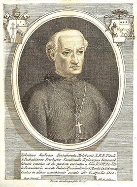 Cardinal Fabrizio Sceberras Testaferrata, the first Maltese cardinal (Araldica Vaticana).