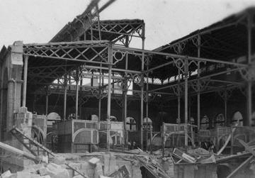 April 7, 1942: the Valletta market is hit and badly damaged during an air raid. Photo: National Archives of Malta