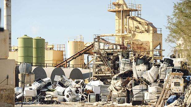 The facility in Iklin where electronic waste is being dumped.