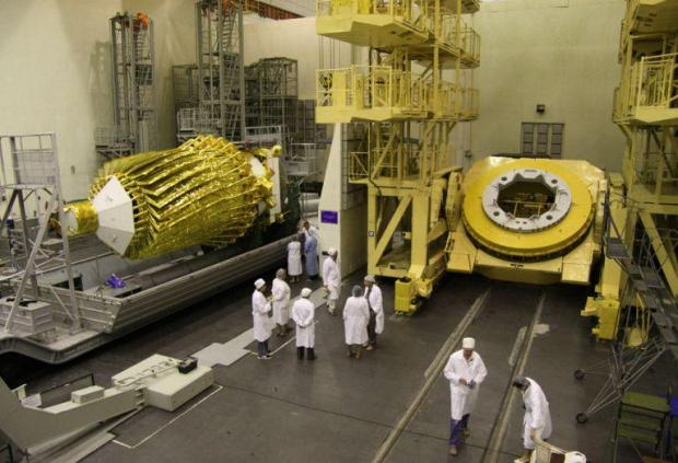 The space telescope before it was launched.