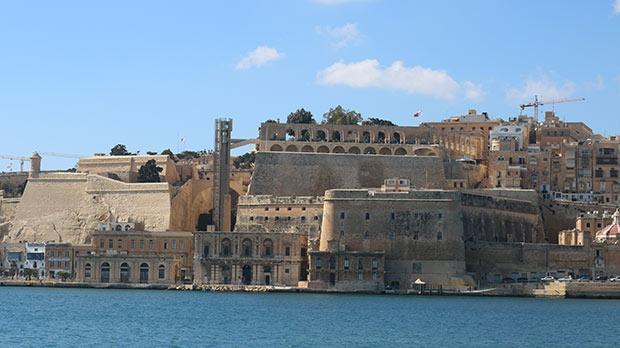 Upper Barrakka from St Angelo. Photo: John Hili