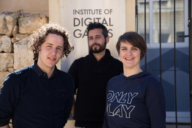 The game developers. Photo: Daniel Karavolos