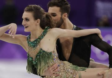 French ice dancer suffers Olympics wardrobe malfunction on live tv