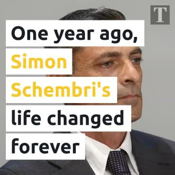 One year ago, Simon Schembri's life was changed forever
