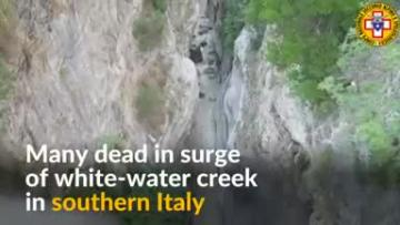 Watch: Another tragedy in Italy - At least 10 dead as white-water creek swells