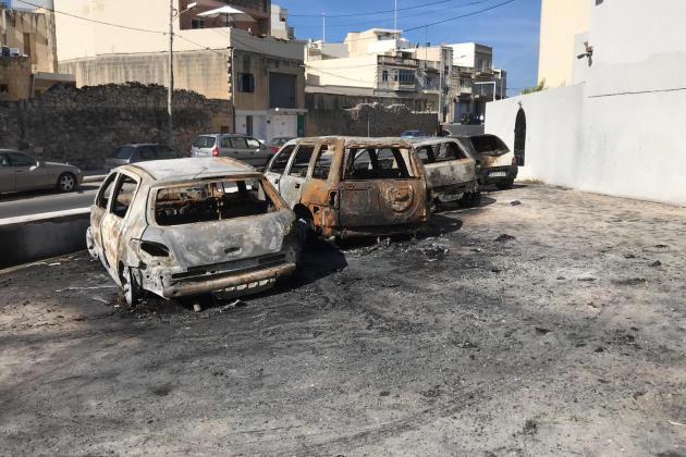 Watch: Six cars destroyed in Qormi blaze