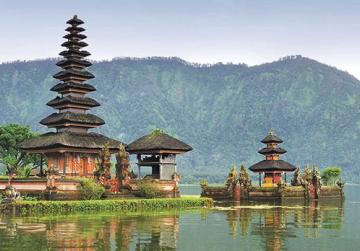 One of the sea temples in Bali.