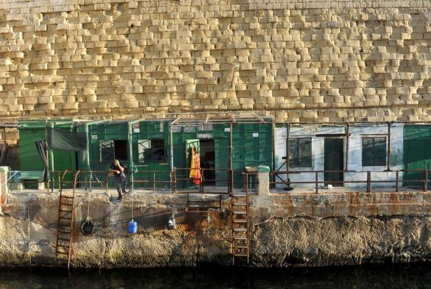 Valletta 'Fossa' shacks are seen on November 15. Photo: Chris Sant Fournier