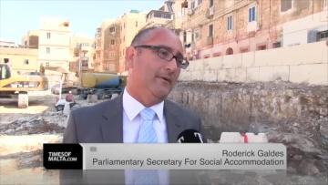 Watch: Social housing had to wait for solid finances, says junior minister  | Mr Galdes says the Cospicua project will be a 'flagship' one. Video: Chris Sant Fournier