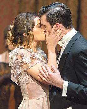 Sheila (Roberta Cefai) and Gerald Croft(Gianni Selvaggi) share a passionate moment. Photos: Justin Mamo