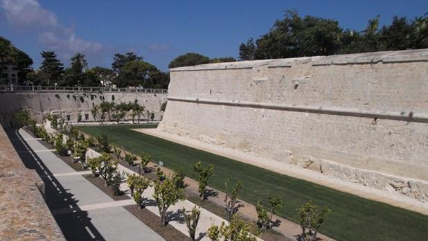 Beautiful landscaping in the Mdina moat. Photo: Heather Hayne