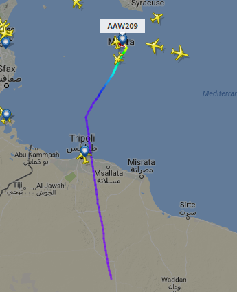 Screenshot: FlightRadar 24