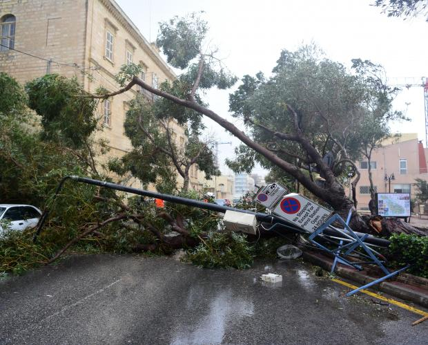 Damage is believed to run up into the 'several millions'. Photo: Mark Zammit Cordina