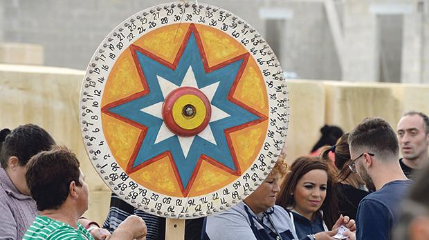 The prize wheel is a traditional aspect of St Martin's fair. Photo: Matthew Mirabelli