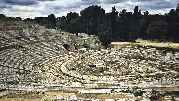 The Greek Theatre at the Archaeological Park of the Neapolis.