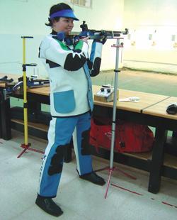 Target shooter Marianna Kisvardai impressed during last weekend's MSSF airgun competition in Bidnija.