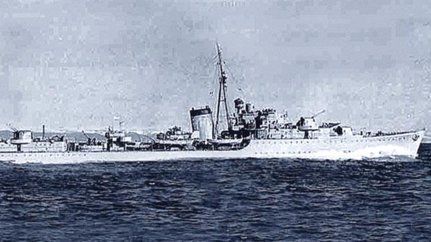 The destroyer HMS Kelly. PO Micallef was on this ship, commanded by Lord Louis Mountbatten, from August 23, 1939, until it was sunk near Crete on May 23, 1941.
