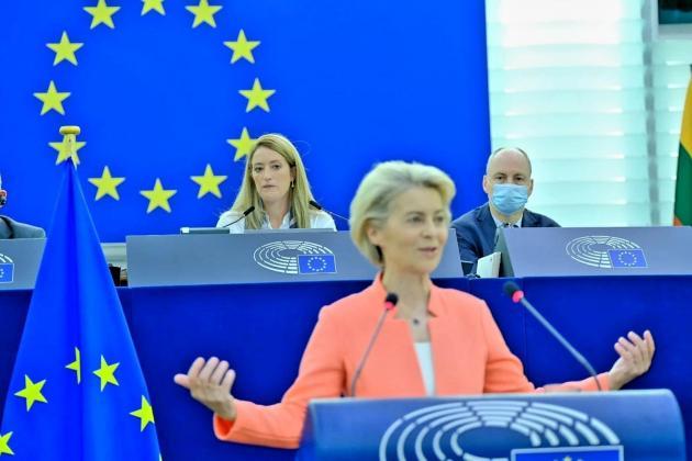 Metsola presides European Parliament for state of the EU address, debate