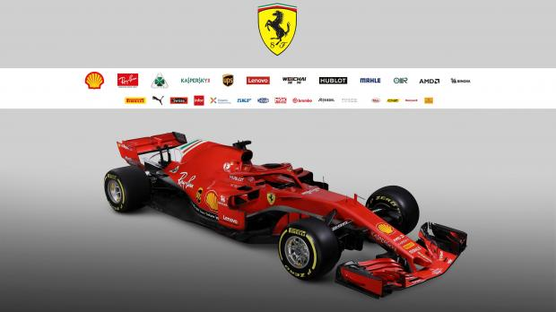 The new Ferrari F1 car model SF71H is seen in this handout photo released from Maranello.