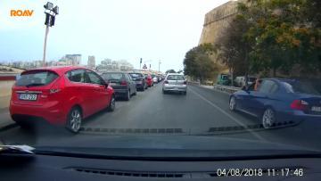 Watch: King of the road in dangerous manoeuvre in Valletta