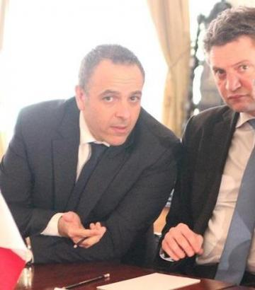 Keith Schembri and Konrad Mizzi during a Cabinet meeting in 2016. Photo: Ivan Martin.