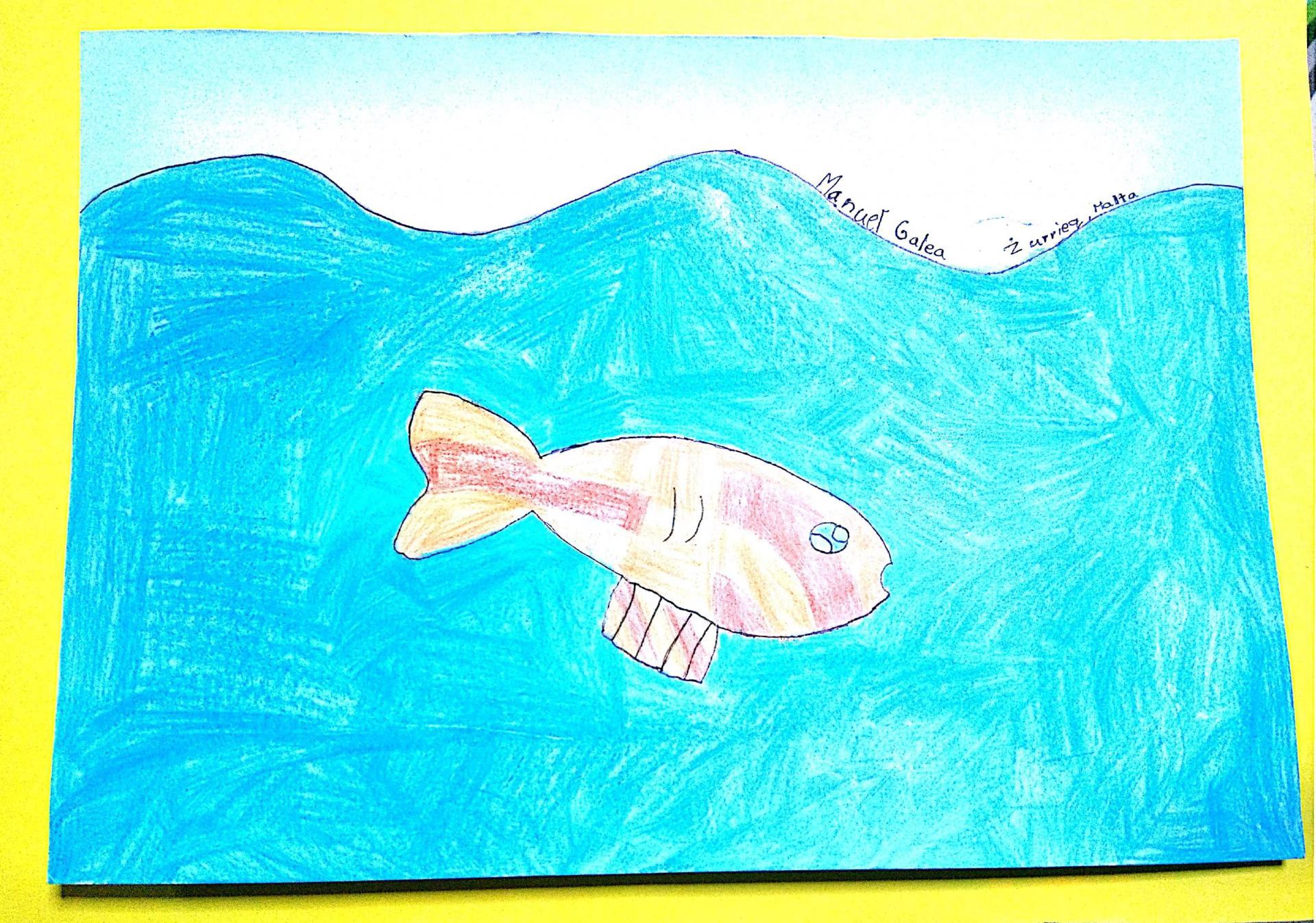 Manuel Galea, 11, has his mind on the sea.