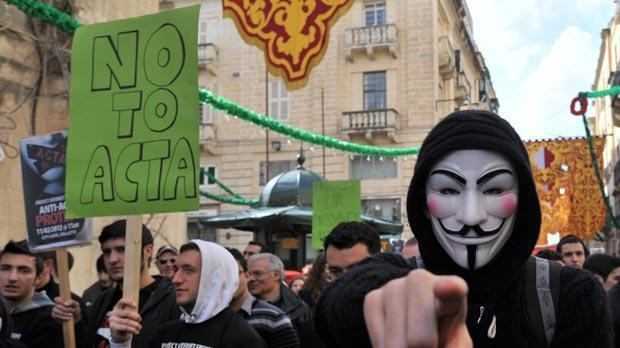 The anti-Acta protest in Valletta two weeks ago.