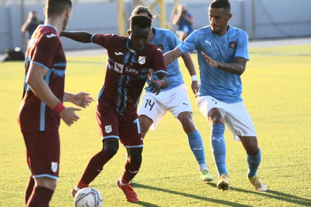 Second-half goals hand Rijeka the edge over Gżira United