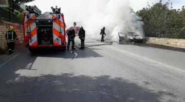 Blaze destroys car on busy St Andrew's Road   Video: Chris Sant Fournier