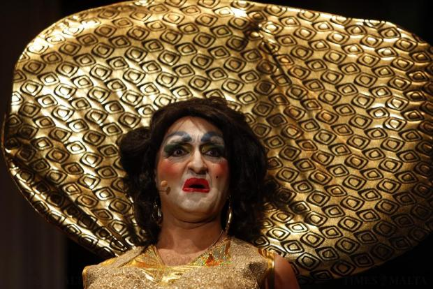 "Actor Jean-Pierre Busuttil plays the dame, Mama Sufia, in MADC's pantomime ""Treasure Island"" at the MFCC in Ta' Qali on December 18. Photo: Darrin Zammit Lupi"