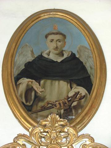 A painting of the saint by Giuseppe Calì at Sacro Cuor parish church, Sliema.