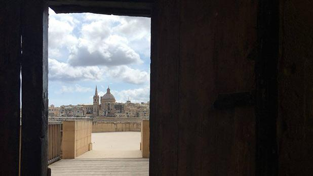 A knight's glimpse of Valletta through the magnificent portal of Fort Manoel. Photo: David Carabott