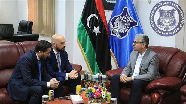 Mr Gafà was photographed in meetings with Libyan ministers. Photo: Alwasat