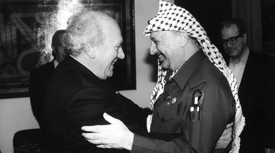 Guido de Marco with Yasser Arafat