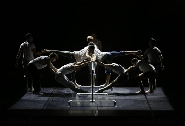 """Dancers of the British dance company Balletboyz perform in """"Fiction"""", choreographed by Javier de Frutos, during their show """"Life"""" at the Malta Arts Festival Malta Arts Festival at Pjazza Teatru Rjal in Valletta on July 15. Photo: Darrin Zammit Lupi"""