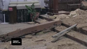 Rabat people in shock as ceiling collapses over the altar at Ta' Ġieżu church