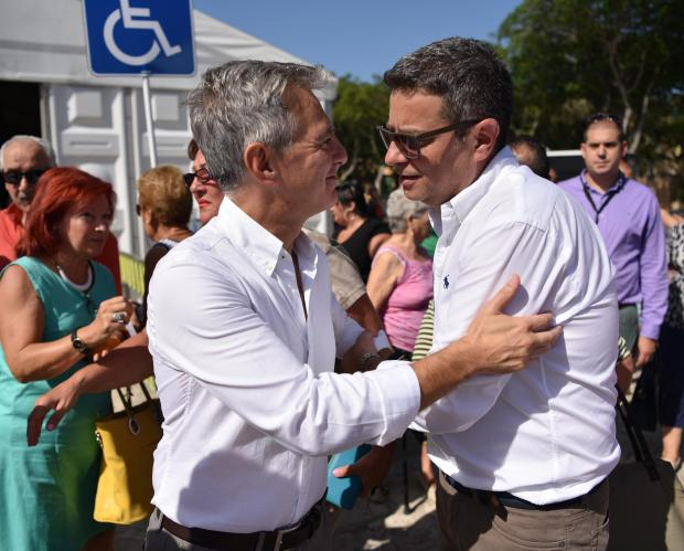 Simon Busuttil with Adrian Delia during the PN leadership vote last September. Photo: Mark Zammit Cordina