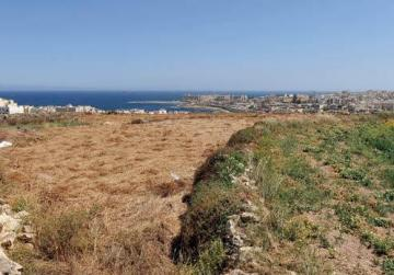 The proposed site for the new university near Marsascala.