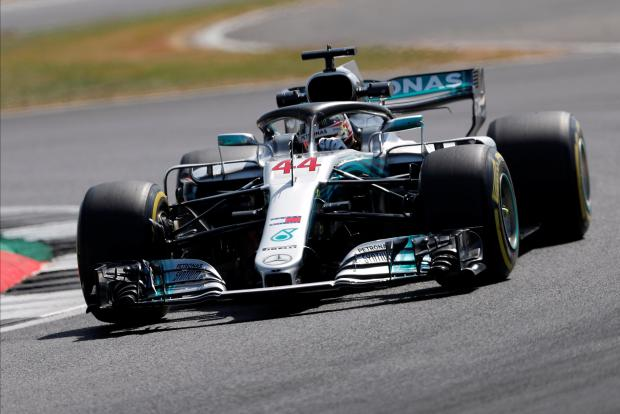Lewis Hamilton topped the timesheets at the British Grand Prix.