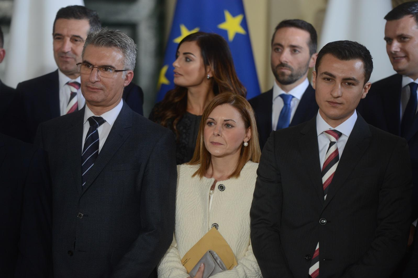 Just three of the 26-strong Cabinet are women: Rosiane Cutajar, above, is a parliamentary secretary, Justyne Caruna, remains Gozo Minister, below and Julia Farrugia Portelli has been appointed Tourism Minister (not pictured). Photo: Jonathan Borg