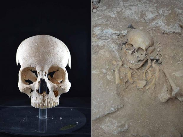 The woman's skull was the best-preserved archaeologists found in the site. Photos: Heritage Malta