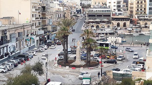 Spinola Square work should be finished by summer. Photo: Chris Sant Fournier
