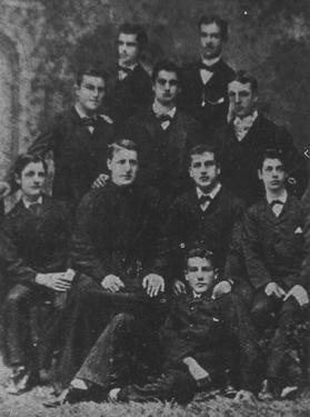 Matriculation class 1881-1882. Caruana is at the front.